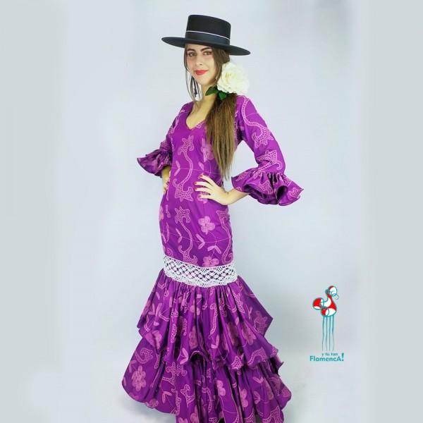 Traje de flamenca outlet modelo Milano Talla 38